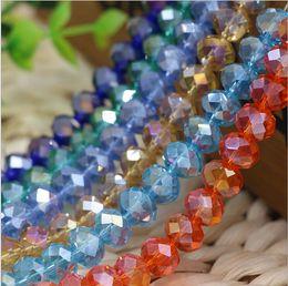 Los granos flojos del cristal plano de 10 milímetros, el encanto de DIY rebordean las pulseras / las piezas de los collares, los granos transparentes del color de la galjanoplastia del AB Forme a joyería barata.15pcs.AL desde piezas de joyería de moda fabricantes