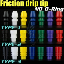 Wholesale new friction drip tip creative No O ring ringless mouthpieces delrin wide bore enuff chuff mods rda rba atomizer rebuidable Dripper