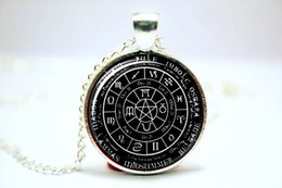 Wholesale 10pcs Pagan Wheel of the Year Necklace Pagan Pendant Glass Photo Cabochon Necklace