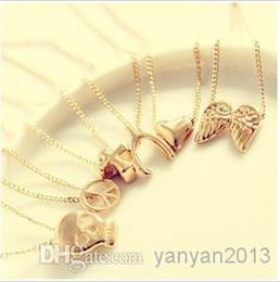 Wholesale 2014 Clavicle Necklace Sweater Chain Skull Angel Wishing Cross Peace Mischa Barton Jewelry