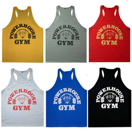 Wholesale Power House Gym Under Shirts for Men Loose Sleeveless Sports Tank Tops Best Cool Pure Cotton Tank Tops Hot Sale