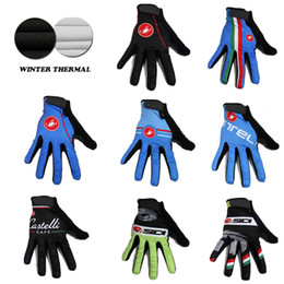 Wholesale 2015 Pro team Guantes ciclismo invierno winter thermal fleece cycling gloves sport mtb bicycle long finger gloves bike bicicleta full ginger