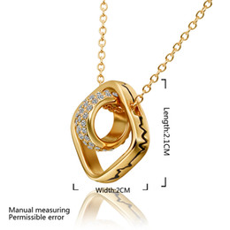 Drop Shipping Classic Squre & Round Necklace for man woman  Pendant Necklace,fashion 18k Gold Plated necklace for women,factory price