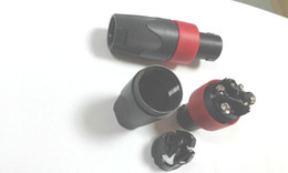 Wholesale high quality Red Speakon Pin Male Plug Compatible Audio Cable adapter