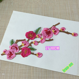Beautiful flower appliques accessories iron on patches for dress decoration