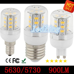 LED Warm Cool White LED Bulbs Corn Bulb 9W 980 Lumen Cree SMD5730 5630 With Cover 24leds GU10 E14 B22G9 Led light