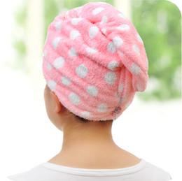 Promotion cheveux amicale Microfibres Magic Hair Dry Séchage Turban Wrap Serviette / Hat / Cap Quick Dry Sèche-linge Baignoire GT14