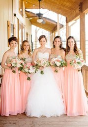 Pink Long Bridesmaid Dresses Chiffon A line Golden Sequined Formal Dresses Plus Size Sweetheart Wedding Party Gowns 2015 Bridesmaid Dress