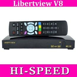 Wholesale 100PCS Libertview v8 openbox v8s HD DVB S2 updated from s f5s S V8 S V8 support Free Web TV cccam newcamd