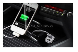 Wholesale Top Micro Auto Universal Dual Port USB Car Charger For iPhone iPad iPod A Mini Car Charger Adapter cigarette lighter mp3