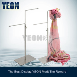 YEON Adjustable height tie rack holder scarf display rack jewelry holder display,5pcs lot bulk order available (SH004M)