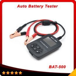 Wholesale BAT BAT500 V Auto Battery Tester BAT500 Automotive Electrical Battery Analyser For Car Train Bicycles DHL free
