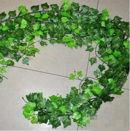 Wholesale 15 off Hot Selling Artificial Ivy Leaf Garland Plants Vine Fake Foliage Flowers Home Decor