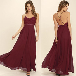 2018 Burgundy Cheap Bridesmaid Dresses Spaghetti Straps Chiffon Lace Top Crop With Sash Long Maid Of Honor Wedding Party Gowns Plus Size