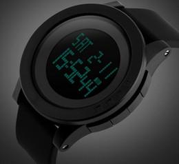 Wholesale Men Simple Big Dial Led Silicone Strap Waterproof 50M Chrono Wrist Watch Sport Watch 1142