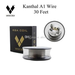 Authentic Vapor Tech A1 Wire 30 Feet 30Ft AWG 24g 26g 28g 30g 32g Gauge for RDA RBA RTA Coil DHL