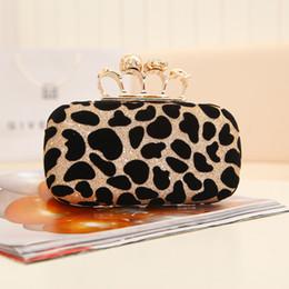 Los bolsos de tarde del cráneo del embrague del leopardo de las mujeres con el diseñador clásico A93 de los bolsos del partido de la manera de las señoras del anillo liberan el envío desde de embrague del anillo de leopardo fabricantes