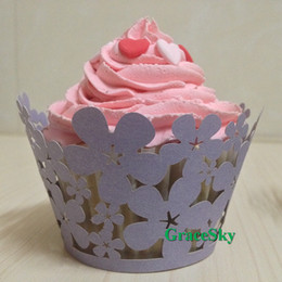 100X Free Shipping Flowers Wedding Party Birthday Decoration Cake Baby Shower Laser Cut Paper Cupcake Wrapper Liner Cupcake muffin Holder