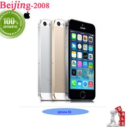 Original refurbished iPhone 5S Dual core unlocked phone 16GB 4.0 inch IPS screen IOS 8 WIFI 1080P iPhone 5S cell phone