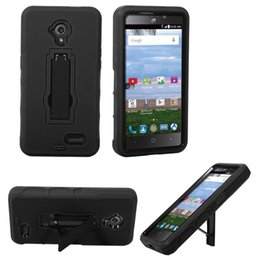 High Quality Durable Super Combo Heavy Duty Shockproof Cell Phone Case With Kickstand TPU+PC For ZTE Z819C 2 in 1 case