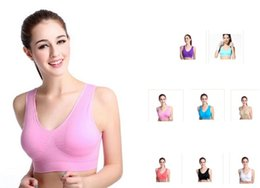Newest 8 colors sports vest seamless bra yoga bra running bra body shape push up vest