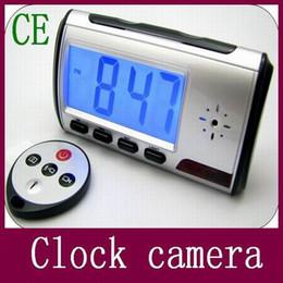 Mini-libre caméra cachée en Ligne-Nouveau numérique Forme Réveil caméra cachée avec télécommande de contrôle de sécurité Accueil caméra Mini caméscope vidéo numérique DHL gratuit
