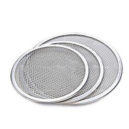 Wholesale quot Seamless Rim Aluminium Mesh Pizza Screen Baking Tray Pizza Screen Net Cookware Bakeware Baking Tool Pizza Tool Free