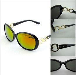 Gafas de sol wayfarers en Línea-Gafas De Sol Para Famale Protección Antireflexion Azul Plástico Moda Espejo Clásico Wayfarer Adumbral Oval Bule Rojo Dorado Google