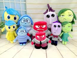 Wholesale 8 inch Anime moive toys Pixars Inside Out Plush Set Joy Anger Fear Sadness Disgust stuffed plush toys pendant gift