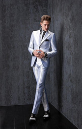 Wholesale 2015 New Groom Tuxedos Slim Fit Best Man Suits Groomsmen Men s Wedding Dress Business Travel Work Suit Custom Made Jacket Pants Tie A2