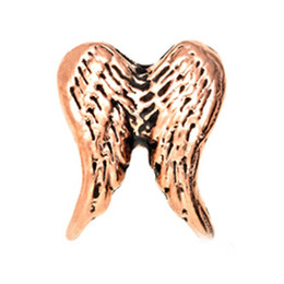 20pcs lot DIY ALLOY angel wing silver gold rose gold floating charms for glass memory lockets good quality and free shipping