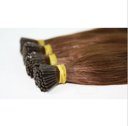 Wholesale-150g set 1g 14''- 24'' 100% Human Hair I Tip Hair Extensions Remy Indian Factory Price Stright Stick I Tips Hair dhl free
