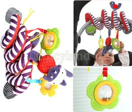 Wholesale 2014 new infant Baby Toys crib revolves around the bed stroller playing toy car hanging baby Rattles toys Mobile SV18 SV007215