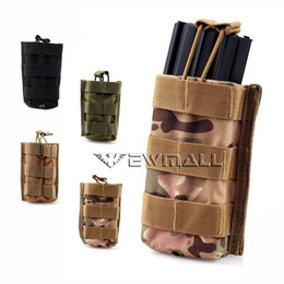 Wholesale Molle Tactical Single Rifle Mag Magazine Pouch Open Top Bag