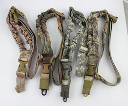 Wholesale Tactical American sling One Single Point Sling Adjustable Bungee Rifle Gun Sling Strap System Tactical Single Point Gun Sling