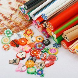Wholesale 50 Set D Nail Art Fimo Canes Stick Rods Polymer Clay Stickers Decora Beauty