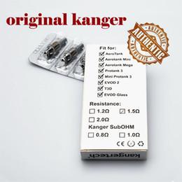 Verre kanger aerotank à vendre-Kanger double Bobines remplacement PMB tête 1.2ohm 1.5ohm de 1.8ohm original pour Kangertech Protank 3 Mini Aerotank Mega verre Evod genitank v2 pro