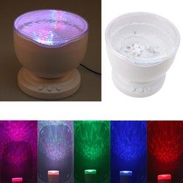 Wholesale Indoor Colorful LED Night Lights Projector Ocean Daren Waves Aurora Master Projection USB Light Lamp With Speaker Novelty Lighting