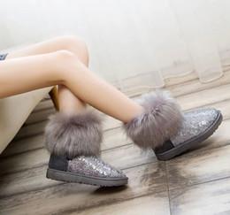 Wholesale 2015 Designer Brand Shoes Woman Platform Boots For Women Womens Girls Shoes Winter Ankle Boots Sequins Snow Boots Size