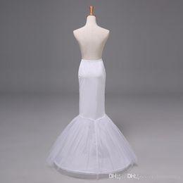Falda de crinolina sirena en Línea-2015 Vestido nupcial de la falda de la crinolina de la enagua de la enagua de la trompeta de la sirena del vestido de boda de las nuevas llegadas Tulle Nupcial 12009