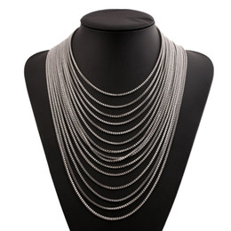 Fashion European Style High Quality Gold Silver statement necklace women fold chokers necklaces fashion jewelry wholesale