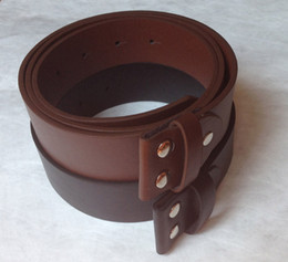"""1.5""""PU Leather Belt Brown and Black Screw On Belt 115-120CM Free Shipping"""