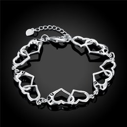 Wholesale H431 sterling silver heart shaped bracelet fashion minimalist style nice birthday present top quality hot