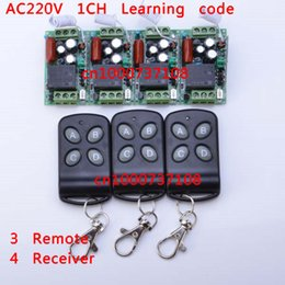 Wholesale AC V A RF CH china remote electrical switches rf module mhz Mhz learning code home automation