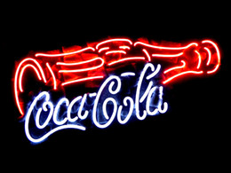 Wholesale COCA COLA COKE BOTTLE REAL GLASS TUBE NEON SIGN BAR LIGHT BEER PUB SIGNS HUNG WALL quot