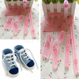 Sale 6Pcs Sneaker Shoes Icing Cake Decorating Mold Embosser Mould Sugarcraft Molds Embosseds Drop Shipping