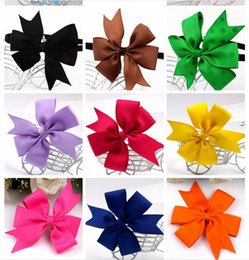 Fashion 3 inch Baby Girl Grosgrain Ribbon Hair Bows Children Hair Accessories Baby Hairbows Girl Hair Bows With Clip 40 color