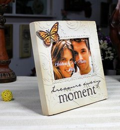 Photo frame Fashion Photo Frame European Pastoral Style Resin Wedding Picture Frame Wedding Gifts Home Photo Frame Photo HK35