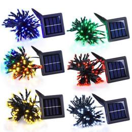 Скидка водить садоводства x2 100leds / 200/300/400/500 Led 12M / 22M 50m RGB / белый / красный водонепроницаемый солнечной энергии Фея свет шнура лампы партии Xmas Декор сада Открытый