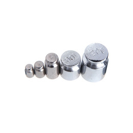 Wholesale 5Pcs g g g g g High Presision Chrome Plating Gram Calibration Weight Set Weights For Digital Scale Balance order lt no track